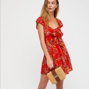 Free people Maia red dress
